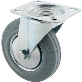 "5"" Gray Industrial Swivel Caster"