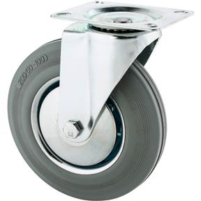 "8"" Gray Industrial Swivel Caster"