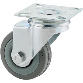 "2"" Gray Rubber Swivel Caster"