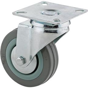 "3"" Gray Rubber Swivel Caster"