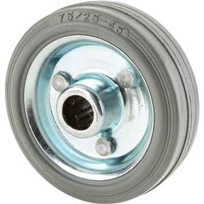 "3"" Gray Rubber Wheel"