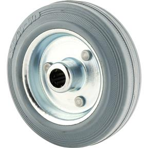 "4"" Gray Rubber Tire"