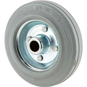 "5"" Gray Rubber Tire"