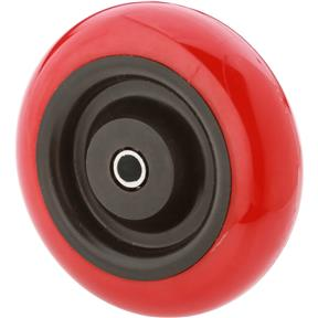 "4"" Red Polyurethane Wheels"