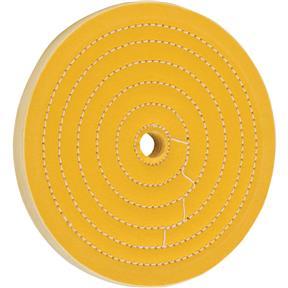 "8"" x 50 Ply x 3/4"" Loose Muslin Hard Buff Wheel, 4,000 RPM"