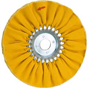 "6"" x 12 Ply x 3/4"" Airway Hard Buff Wheel, 3500 RPM"