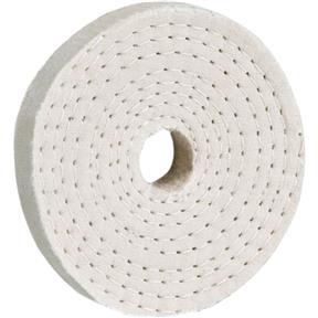 "3"" x 40 Ply x 5/8"" Spiral Sewn Buff Wheel, 5,000 RPM"