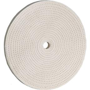 "8"" x 40 Ply x 5/8"" Spiral Sewn Buff Wheel, 4,000 RPM"