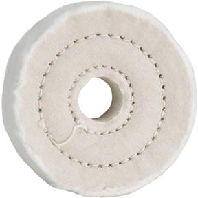 "3"" x 40 Ply x 5/8"" Soft Muslin Buffing Wheel, 5,000 RPM"