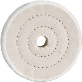 "4"" x 40 Ply x 5/8"" Soft Muslin Buffing Wheel, 5,000 RPM"