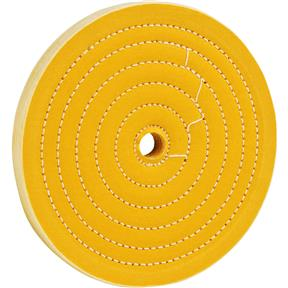 "8"" x 50 Ply x 5/8"" Loose Muslin Hard Buff Wheel, 4,000 RPM"