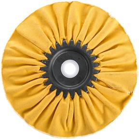 "6"" x 12 Ply x 5/8"" Airway Hard Buff Wheel, 3500 RPM"