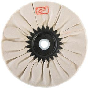 "6"" x 12 Ply x 5/8"" Airway Soft Buff Wheel, 3500 RPM"