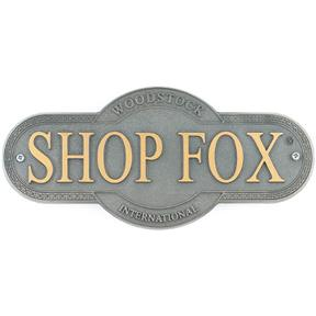 Shop Fox Nameplate - Small