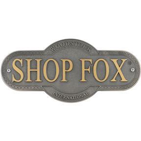 Shop Fox Nameplate - Large