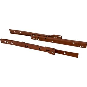 "10"" European Style Self-Closing Drawer Slide, Brown pack of two"