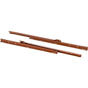 "12"" European Style Self-Closing Drawer Slide, Brown pack of two"