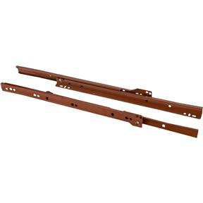 "14"" European Style Self-Closing Drawer Slide, Brown pack of two"