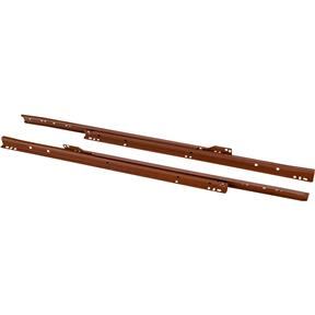 "20"" European Style Self-Closing Drawer Slide, Brown pack of two"