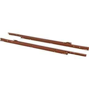 "24"" European Style Self-Closing Drawer Slide, Brown pack of two"