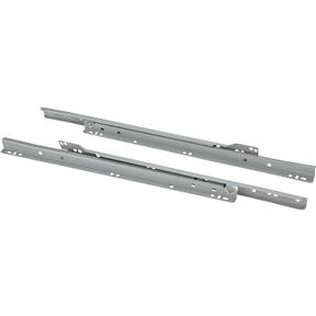 "16"" European Style Self-Closing Drawer Slide, Grey"