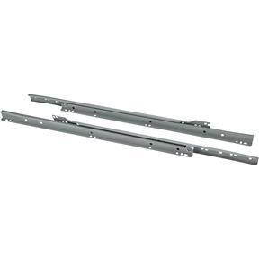 "20"" European Style Self-Closing Drawer Slide, Grey"
