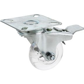 "2"" Non-Marring Swivel Caster, Plate Mount with Lock"
