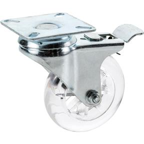 "3"" Non-Marring Swivel Caster, Plate Mount with Lock"