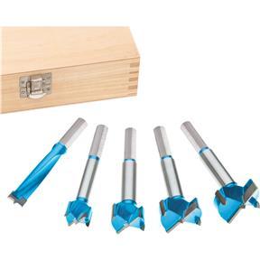 5 pc. Carbide Forstner Bit Set, 15mm - 35mm
