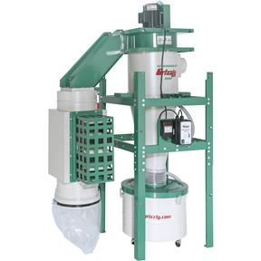 2 HP Dual-Filtration HEPA Cyclone Dust Collector
