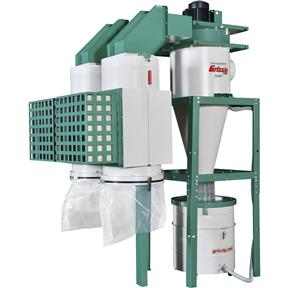 5 HP Dual-Filtration HEPA Cyclone Dust Collector