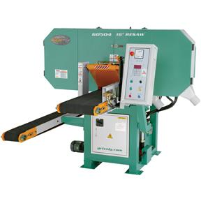 "16"" 30 HP 3-Phase Dual Conveyor Horizontal Resaw Bandsaw"