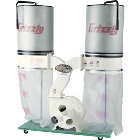 3 HP Double Canister Dust Collector with Aluminum Impeller  -  Polar Bear Series