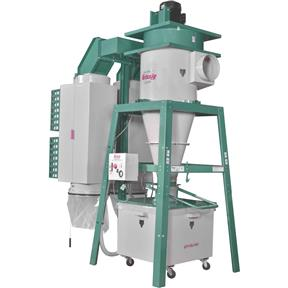 10 HP 3-Phase Dual-Filtration HEPA Cyclone Dust Collector