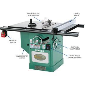 12' 5 HP 220V Extreme Series® Left-Tilt Table Saw