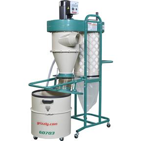 1-1/2 HP 2 Stage Cyclone Dust Collector