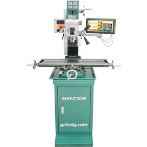 "7"" x 27"" 1 HP Mill/Drill with Stand and DRO"