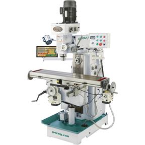"""11"""" x 50"""" 2 HP Horizontal/Vertical Mill with DRO"""