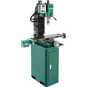 "7"" x 29"" 1-1/2 HP Mill/Drill With Power Head Elevation and DRO"
