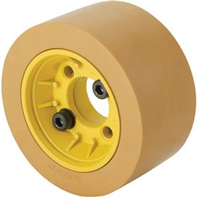 Flange with Rubber Roller