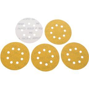 "5"" A/O Sanding Disc, 60-C Grit H&L 8 Hole, 5 pk."