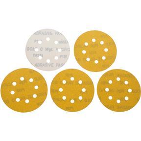 "5"" A/O Sanding Disc, 120-C Grit H&L 8 Hole, 5 pk."