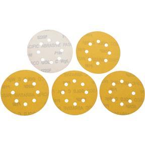 "5"" A/O Sanding Disc, 180-C Grit H&L 8 Hole, 5 pk."
