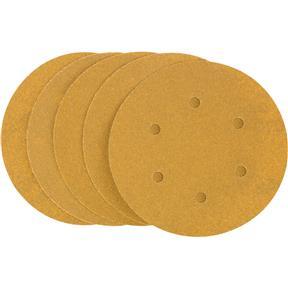 "6"" A/O Sanding Disc, 80-C Grit H&L 6 Hole, 5 pk."