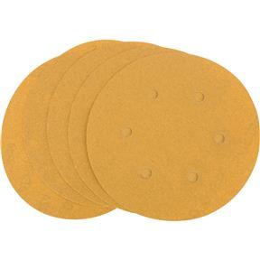 "6"" A/O Sanding Disc, 120-C Grit H&L 6 Hole, 5 pk."