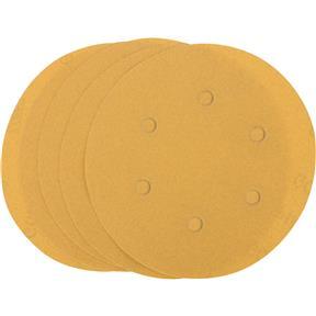 "6"" A/O Sanding Disc, 180-C Grit H&L 6 Hole, 5 pk."