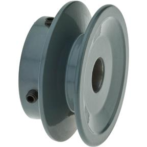 "Single V-Groove Pulley - 2"" Pitch Dia., 1/2"" Bore"