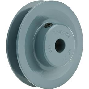 "Single V-Groove Pulley - 3"" Pitch Dia., 1/2"" Bore"