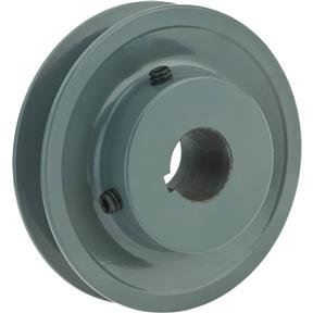 "Single V-Groove Pulley - 3"" Pitch Dia., 3/4"" Bore"
