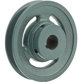 "Single V-Groove Pulley - 4"" Pitch Dia., 3/4"" Bore"